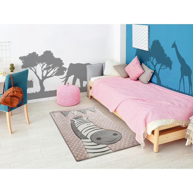 alfombra infantil rosa